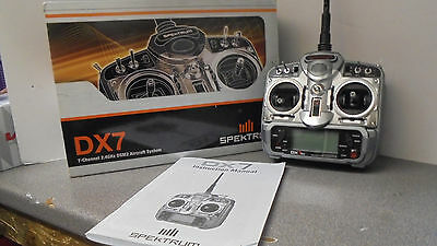 Radio Controlled Spektrum DX7 Transmitter Boxed With Manual and Battery