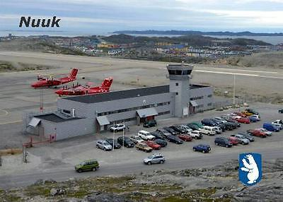 Greenland Nuuk Airport Aerial View New Postcard