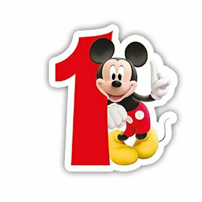Disney Mickey Mouse Birthday Cake Number Candles  First 1st Birthday Age