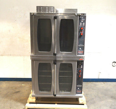 Lang GCSF-ES Enviro-Star Chef-Series Convection Oven Nat-Gas 2-Stack 60k-BTU/Hr