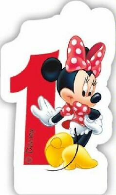 Disney Minnie Mouse Birthday Cake Number Candles 1st 2nd 3rd 4th 5th 6th Age