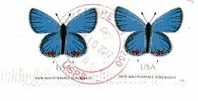 US postage non-machineable surcharge stamps used