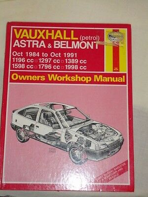 Haynes Manual For Vauxhall Astra & Belmont