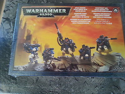 Warhammer 40K Space Marine Scout Squad With Sniper Rifles - New & Sealed