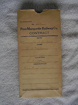 Pere Marquette Railway Co. Contract With Blueprint 1922 Ludington Ice House