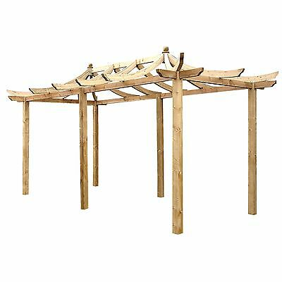 Wooden Extended Dragon Pergola by Grange - GARDEN STRUCTURES - EX-DISPLAY