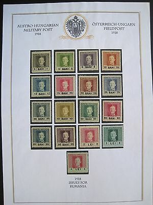 Austro Hungarian KUK Issues for Romania WW1