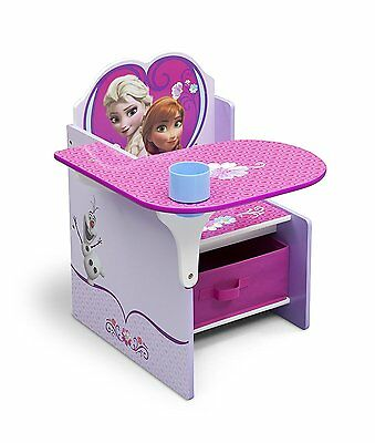 Delta Disney Frozen Desk with Chair and Toy Storage Bin Box Organizer NEW NIB