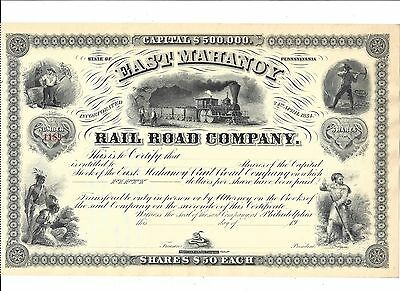 East Mahanoy Rail Road Company......unissued Stock Certificate
