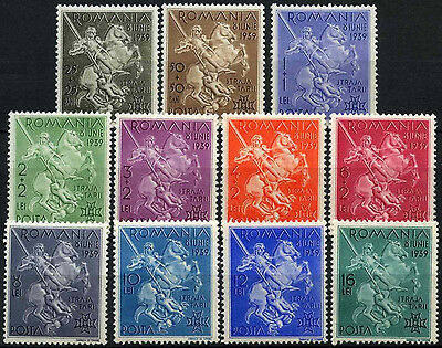 Romania 1939 SG#1411-1421 Accession Of Carol II Boy Scouts MNH Set #D34947