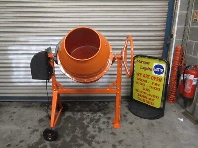 PCM170 Electric Powered Cement Mixer. 170L Capacity Mixer With Stand