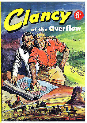 CLANCY OF THE  OVERFLOW No.3 -  VERY RARE EARLY AUSTRALIAN COMIC Facsimile