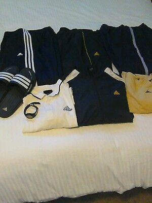 Adidas Men's Tennis warm up and other items.