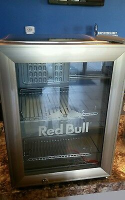 Red Bull Commercial Reach In Counter Top Mini Fridge Cooler Display