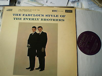 The Everly Brothers - The Fabulous Style Of - Plum London  Lp