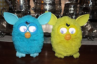 Furby 2012 Hasbro Interactive Toy Blue and Yellow