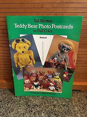 Vintage 1985 Ted Menten TEDDY BEAR PHOTO POSTCARDS - 24 Full Cover Postcards