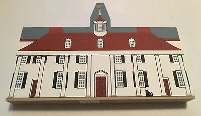 "Cats Meow George Washington Home Mount Vernon VA 7"" X 4.5"" 1991 Retired Signed"