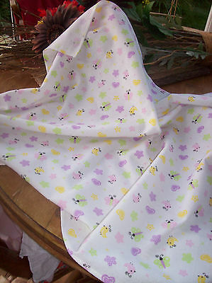 2 New Handmade Baby Sheets For Crib,moses Basket Or Pram