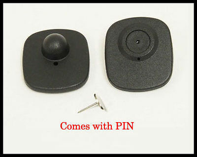 1,000 Mini Hard Security Tags with Pins PRE-OWNED