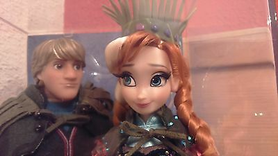 Frozen Fever Anna Kristoff Doll Disney Limited Edition Fairytale Le Nrfb