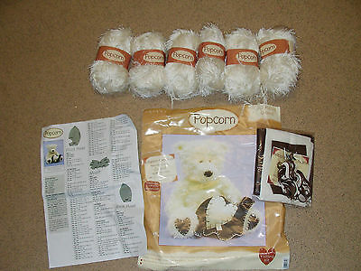 Popcorn Teddy Bear Knitting Kit Pk2 Coconut Looking To Be Adopted