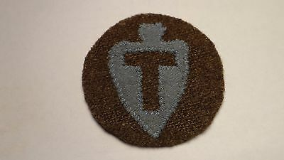 WWI US Army 36th  infantry division patch  cloth on wool