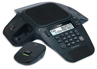 VTech ErisStation VCS704 Conference Phone With 4 DECT 6.0 Wireless Microphones