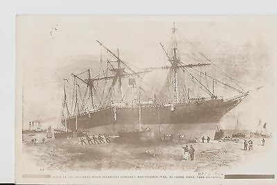 """Photo Of Shipwreck At Crosby Point, Near Liverpool 1864. The Mail Steamer """"Juba"""""""