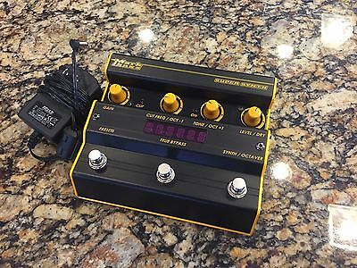 Markbass Super Synth & Octaver Bass Guitar Effect Pedal with Power