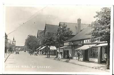 Real Photo, College Road Crosby Liverpool.