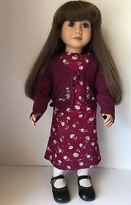 """My Twinn 23"""" Doll 1999, Thick Brown Hair and Brown eyes, Poseable, Cute outfit"""