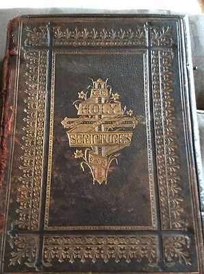 large antique family bible