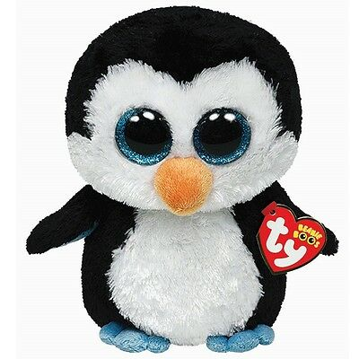 TY Plush Beanie Boos WADDLES the 6'' Penguin ~NEW~