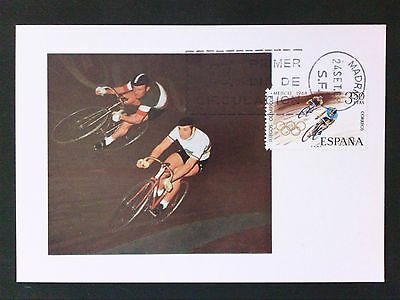 SPAIN MK 1968 OLYMPIA RADRENNEN OLYMPICS MAXIMUMKARTE MAXIMUM CARD MC CM c8781