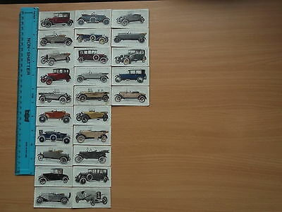 Vintage Lambert & Butler 'Motor Cars' Cigarette Cards 1923 (Full Set 25)