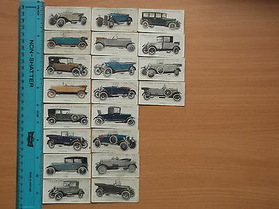 Vintage Lambert & Butler 'Motor Cars' Cigarette Cards 1923 (Part Set 20/25)