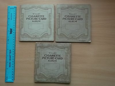Vintage Will's Cigarette Cards Albums 1930s (3 Albums, Good Condition)