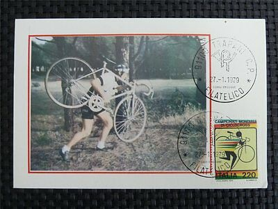 ITALIA MK 1979 SPORTS CYCLING RADFAHREN MAXIMUMKARTE MAXIMUM CARD MC CM c1688