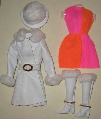 Vintage Mod Barbie Repro/reproduction-#1491 Red White & Warm Fashion-Mint
