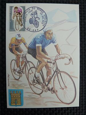 FRANCE MK 1972 SPORTS CYCLING RADFAHREN MAXIMUMKARTE MAXIMUM CARD MC CM c1702