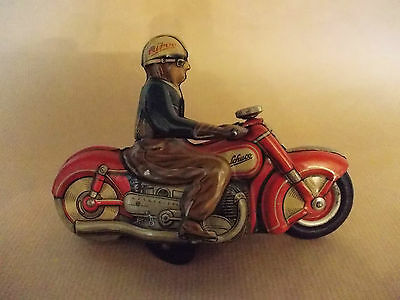 Original SCHUCO CURVO 1000 Red Motorcycle including key Made in US Zone