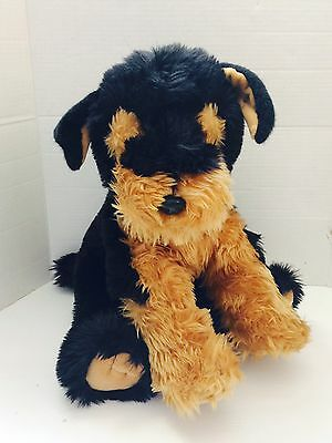"17"" Large Vintage Russ Airedale Terrier Dog Stuffed Animal Plush Toy ""Dewie"""