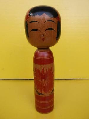 864 / Hand Painted And Hand Carved Wooden Japanese Kokeshi Doll
