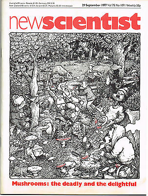 New Scientist Magazine 29 Sept 1977 Mushrooms: The Deadly & The Delightful