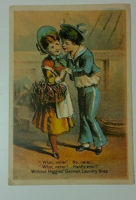 Victorian TRADE CARD Higgins German Laundry Soap Advertising