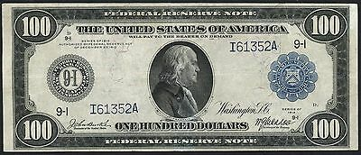 FR1116 $100 1914 SERIES FRN -- MINNEAPOLIS -- BURKE / McADOO XF+ WLM2624