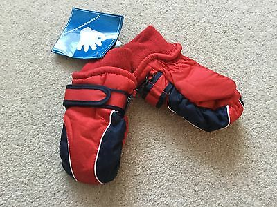 Boys or girls Next Thinsulate red mittens / gloves size 12 - 18 - 24 mths BNWT