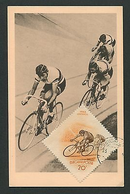 UNGARN MK 1953 SPORT RADRENNEN CYCLING MAXIMUMKARTE CARTE MAXIMUM CARD MC c9175