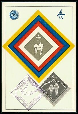 VENEZUELA MK 1961 SPORTS SPORT RADRENNEN MAXIMUMKARTE MAXIMUM CARD MC CM bf05